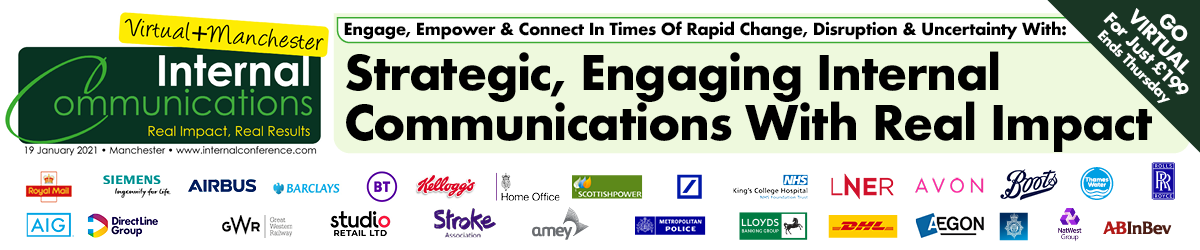 Internal Communications Conference, Manchester, 19th January 2021